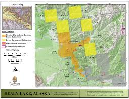 Healy Alaska Map by Doyon Limited Lands Maps