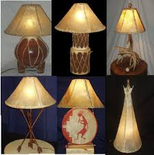 go rustic with genuine rawhide lamp shades the most effective way