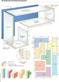 2981 build modular shelves children u0027s furniture plans kids