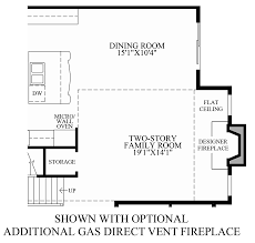 fireplace floor plan regency at hilltown the cole home design