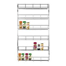 livivo chrome 5 tier spice herb jar rack holder for home kitchen