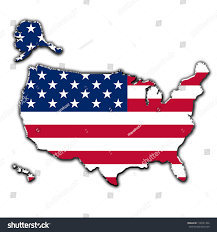 Outline Map Of The United States by Outline Map United States America Covered Stock Illustration