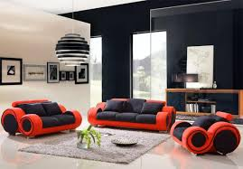 Sofa Sets For Living Room Enchanting Black And Red Living Room Furniture For Modern Sofa Set