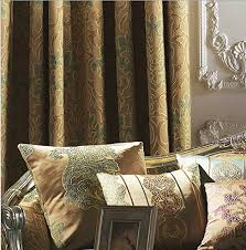 Blackout Curtains 72 Wide Iyuegou Antique Jacquard Faux Silk Multi Floral Grommet Top Lining