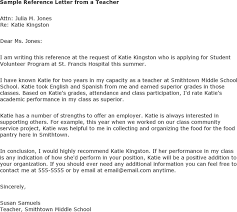 ideas of student recommendation letter sample for middle