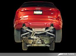 awe tuning audi q5 3 2l performance exhaust and downpipe systems
