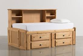 Twin Beds With Drawers Summit Caramel Twin Roomsaver Bed W 4 Drawer Storage Unit