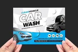 car wash flyer template flyer templates creative market