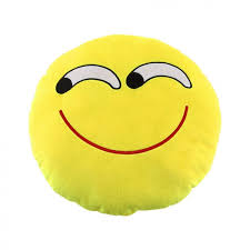 pretty soft cute emoji smiley cushion pillow plush toy