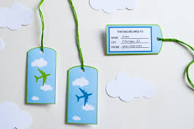 favor bag airplane favor bag goodie bag luggage tags personalized