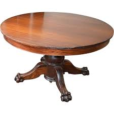 Solid Mahogany Dining Table Victorian Claw Foot Split Pedestal Banquet Table W 6 Leaves From