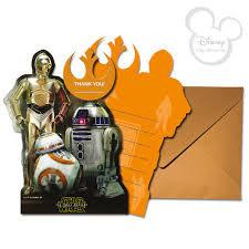 wars thank you cards model 2017 disney droids 6x thank you card set wars the