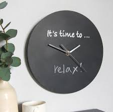 it u0027s time to u0027 personalised blackboard clock by made in words