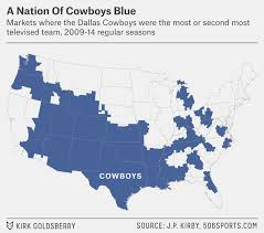 what nfl team has the most fans nationwide which nfl team are you stuck watching every sunday fivethirtyeight