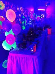 black light party ideas blacklight party table graduation ideas blacklight