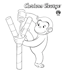 curious george pictures print coloring