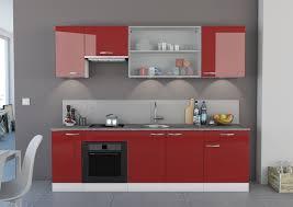 Tiroir De Cuisine Coulissant Ikea by Cuisine Cuisine Design Joy Rouge Avec Quatre Placards Un Tiroir