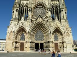 the road goes ever on reims cathedral sculpture