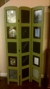 room screen divider repurposed photo room divider with chalkboard panels https www