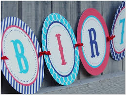 happy birthday banner printable template pictures reference