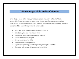office resume skills professional assistant front office manager