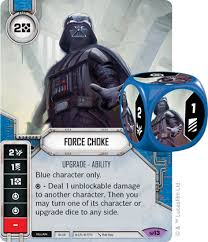darth vader force choke force choke star wars destiny card game wikia fandom powered by