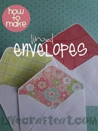 how to make lined envelopes live craft eat
