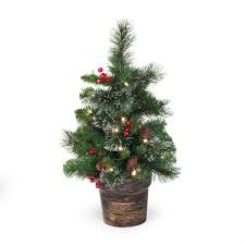2 ft crestwood spruce pre lit battery operated led tree