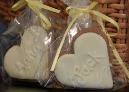 handmade cookie place settings what a delicious wedding favour