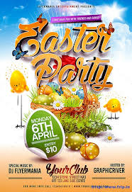 free spring easter party psd flyer template photoshop flyer
