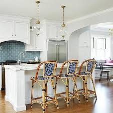 Blue Bistro Chairs Bistro Stools Stylish The Look Rattan Chairs Kitchn