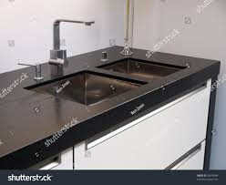 Kitchen Tap Faucet by Details Modern Design Trendy Kitchen Sink Stock Photo 30616594