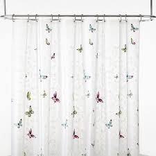 India Shower Curtain Ink Butterfly Terrace Peva Shower Curtain
