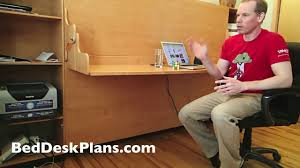 murphy bed desk plans diy murphy bed desk combo plans youtube