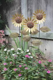 metal sunflower garden stakes home design