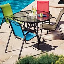 Sling Patio Chair Blue Sling Patio Chair Outdoor Goods