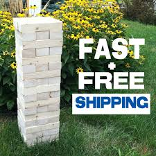 giant jenga block game by tumbling timbers wood storage