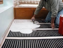 Heated Bathroom Rug Hydronic Radiant Floor Heating Installation Carpet Flooring Ideas