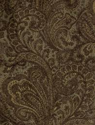 Blue Upholstery Fabric Aegean Brown Blue Paisley Design Upholstery Fabric