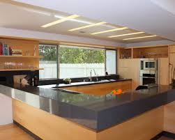 Kitchen Ceiling Lights Modern Kitchen Led Kitchen Ceiling Lighting In Modern Showed The Light