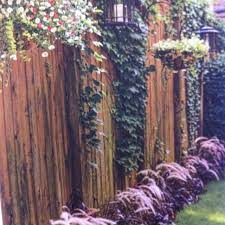 outdoor beautiful outdoor fence decor glamorous brown