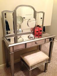 tips bedroom vanity sets with for picture mirrored makeup mirror