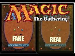 magic the gathering how to tell if the cards are