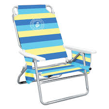 Folding Low Beach Chair Outdoor Caribbean Joe 5 Position Striped Folding Low Beach Chair
