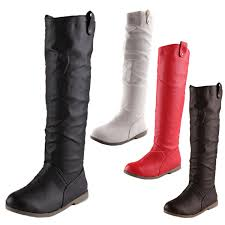 look womens boots sale ccc womens shoes leather look knee high vintage booties boots