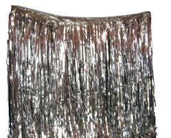 rideau lam礬 argent rideau m礬tal frang礬 4 m x 1 m festi