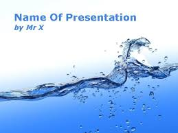 Water Powerpoint Templates by Water Blue Theme Powerpoint Template