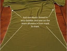 shirring elastic how to sew ruched side seams on any knit shirt pattern the