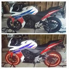 cbr500r added reflective rim tape motorcycles
