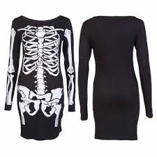 Scary Halloween Skeleton Womens Leotard Bodysuit Tunic Top Halloween Skeleton Leggings